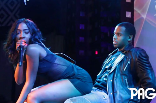 """Sevyn Streeter Gives Mack Wilds a Lap Dance During """"Sex On The Ceiling"""" in NYC"""