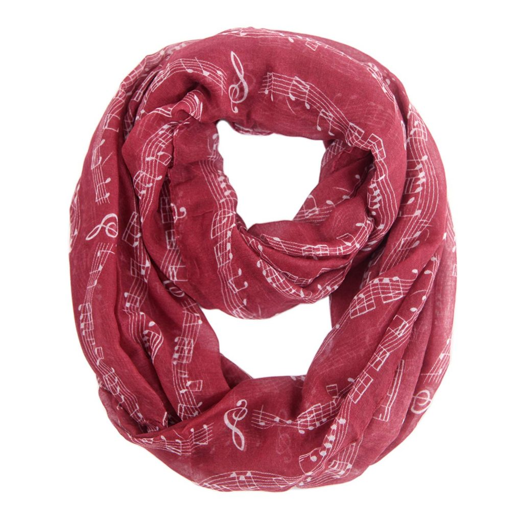 Music Note Infinity Scarf - Gift Guide 2019