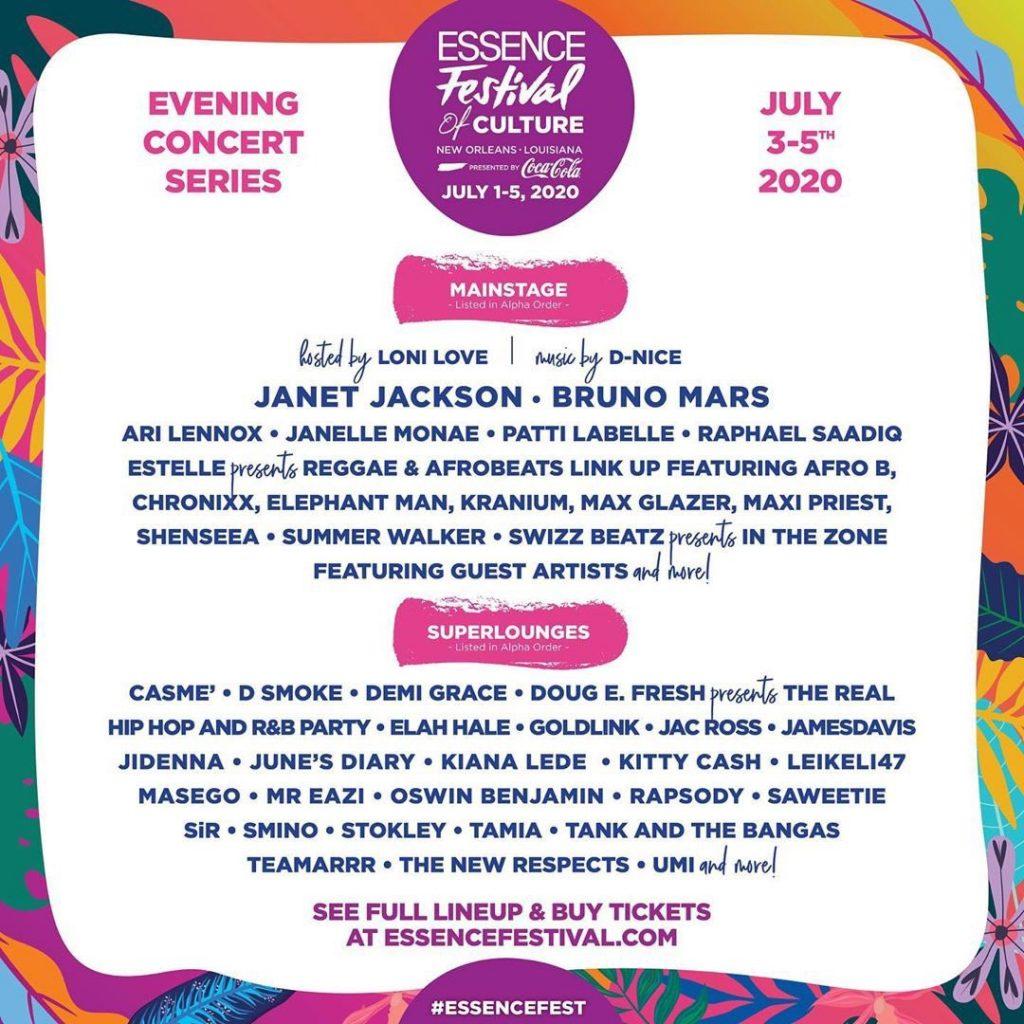Essence Fest Lineup